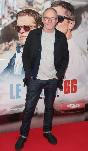 Liam Cunningham pictured at the special preview screening of Le Mans '66 at Cineworld, Dublin. Photo: Brian McEvoy.