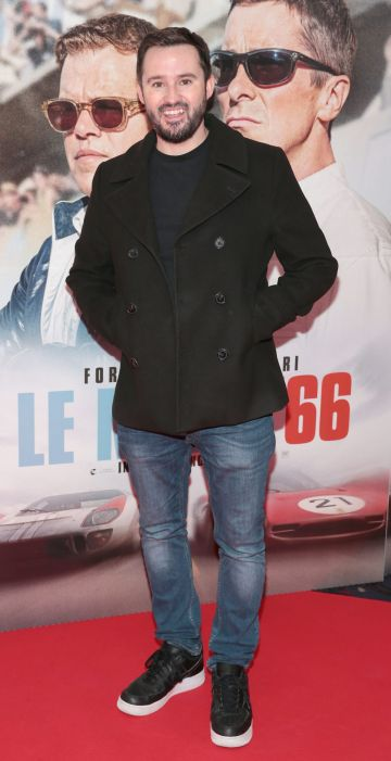 Andy Kavanagh pictured at the special preview screening of Le Mans '66 at Cineworld, Dublin. Photo: Brian McEvoy.