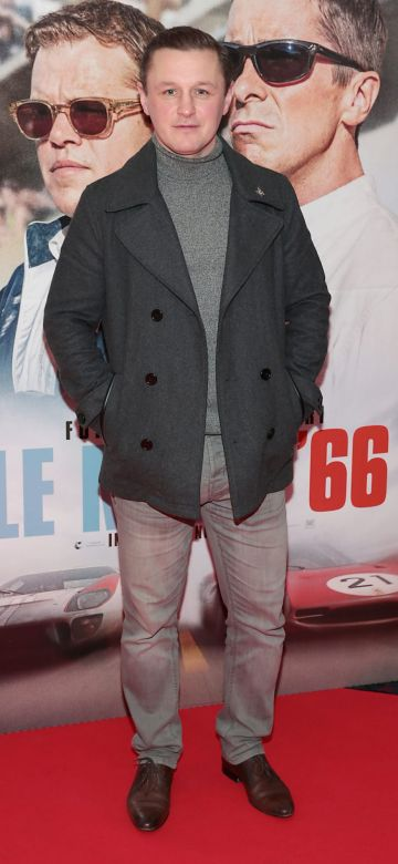 Robbie Walsh pictured at the special preview screening of Le Mans '66 at Cineworld, Dublin. Photo: Brian McEvoy.