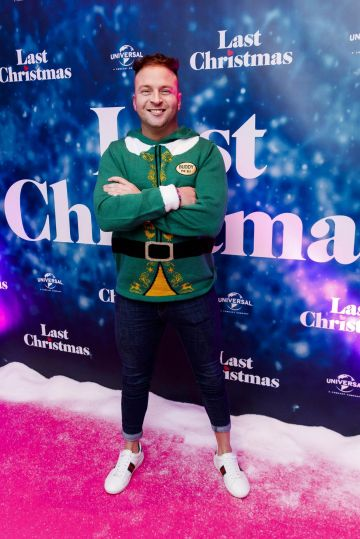 Wayne Lawlor pictured at the Universal Pictures Irish premiere screening of Last Christmas at the Light House Cinema, Dublin.  Picture: Andres Poveda