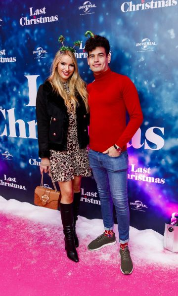 Laura Grant and Ciaran Shah pictured at the Universal Pictures Irish premiere screening of Last Christmas at the Light House Cinema, Dublin.  Picture: Andres Poveda