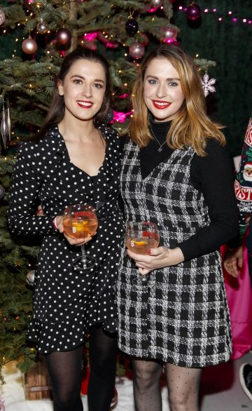 Mary Gray and Niamh Devereux pictured at the Universal Pictures Irish premiere screening of Last Christmas at the Light House Cinema, Dublin.  Picture: Andres Poveda