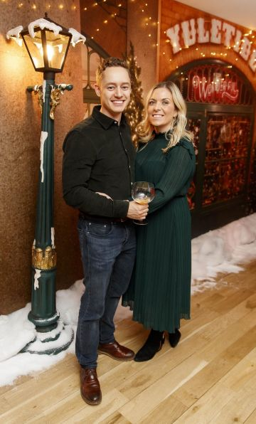 Kelly McCann and Ben Hawley pictured at the Universal Pictures Irish premiere screening of Last Christmas at the Light House Cinema, Dublin.  Picture: Andres Poveda