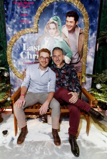 John O'Malley and Alfred Bozic pictured at the Universal Pictures Irish premiere screening of Last Christmas at the Light House Cinema, Dublin.  Picture: Andres Poveda