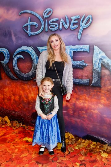 "AJ Fitzsimmons and Katie Donegan (7) pictured at the special preview screening of Disney's ""Frozen 2"" at the Light House Cinema, Dublin.  Picture Andres Poveda"