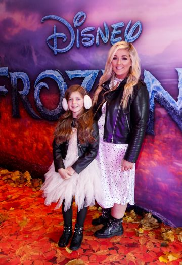 "Ella Mae (9) and Kelly Fitzsimmons pictured at the special preview screening of Disney's ""Frozen 2"" at the Light House Cinema, Dublin.  Picture Andres Poveda"