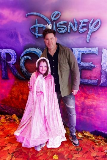 "Maclean Burke and daughter Bow-Belle pictured at the special preview screening of Disney's ""Frozen 2"" at the Light House Cinema, Dublin.  Picture Andres Poveda"