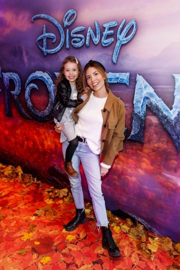 "Lottie-Rose Groenland (4) and Rosa Parozci pictured at the special preview screening of Disney's ""Frozen 2"" at the Light House Cinema, Dublin.  Picture Andres Poveda"