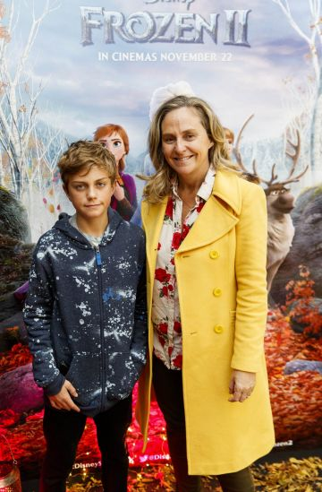 "Debbie O'Donnell  with Marcus Carroll (11) pictured at the special preview screening of Disney's ""Frozen 2"" at the Light House Cinema, Dublin.  Picture Andres Poveda"