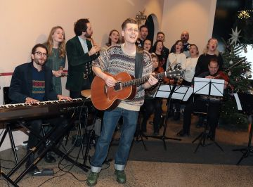 Hudson Taylor perform at the opening of The Connected Restaurant, powered by Three  in Sir John Rogerson Quay Dublin Pic Brian McEvoy