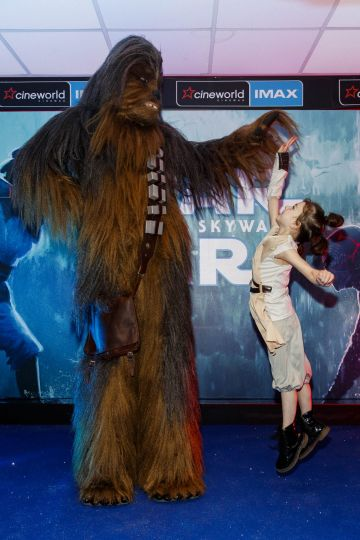 Sally MacGowan (6) from Palmerstown pictured at the Irish premiere screening of Star Wars: The Rise of Skywalker at Cineworld, Dublin. Picture: Andres Poveda