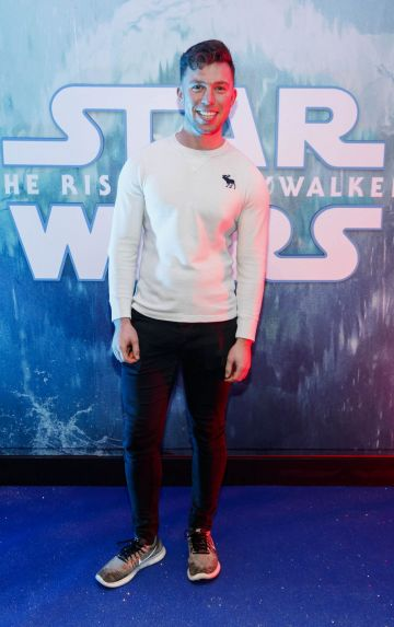 Elliott Ryan pictured at the Irish premiere screening of Star Wars: The Rise of Skywalker at Cineworld, Dublin. Picture: Andres Poveda