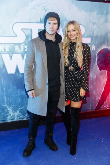 Steve Garringan and Diana Bunici pictured at the Irish premiere screening of Star Wars: The Rise of Skywalker at Cineworld, Dublin. Picture: Andres Poveda