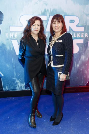 Trish Long (Vice President & General Manager Walt Disney Studios Motion Pictures Ireland) with Josepha Madigan  TD (Minister for Culture, Heritage and the Gaeltacht) pictured at the Irish premiere screening of Star Wars: The Rise of Skywalker at Cineworld, Dublin. Picture: Andres Poveda