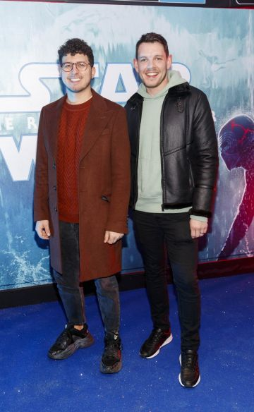 Clay Giles and Kenneth Giles pictured at the Irish premiere screening of Star Wars: The Rise of Skywalker at Cineworld, Dublin. Picture: Andres Poveda