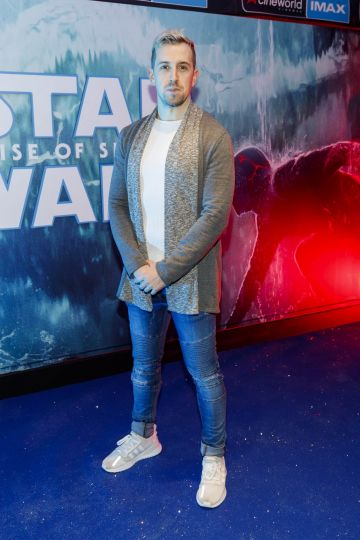 Luke O'Faolain pictured at the Irish premiere screening of Star Wars: The Rise of Skywalker at Cineworld, Dublin. Picture: Andres Poveda