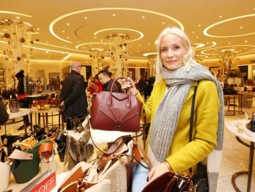26/12/2019  Brown Thomas Sale. Pictured is Liv Judd from Canada today (26th December 2019) at the highly anticipated Brown Thomas Sale.   Photo: Sasko Lazarov/Photocall Ireland