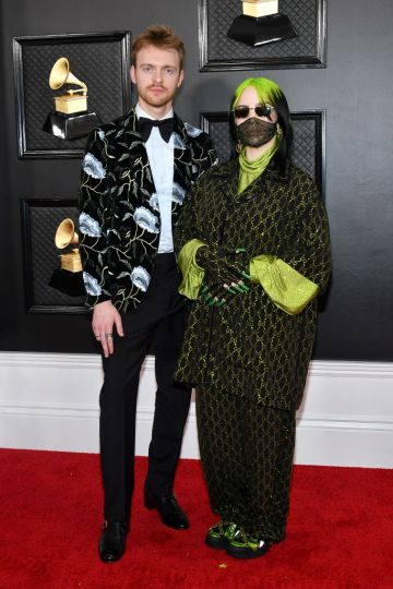 Finneas and Billie Eilish attend the 62nd Annual GRAMMY Awards at Staples Center on January 26, 2020 in Los Angeles, California. (Photo by Amy Sussman/Getty Images)
