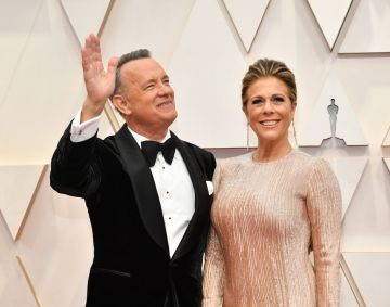 Tom Hanks and Rita Wilson attend the 92nd Annual Academy Awards at Hollywood and Highland on February 09, 2020 in Hollywood, California. (Photo by Amy Sussman/Getty Images)