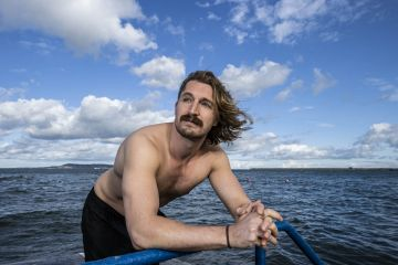 Movember Ireland Lead, Jack O'Connor is pictured at Seapoint Dublin helping men's health charity Movember announces LOCKDOWN – SHAVE DOWN – GET DOWN, an initiative to encourage healthy conversations surrounding mental health.   Picture Andres Poveda