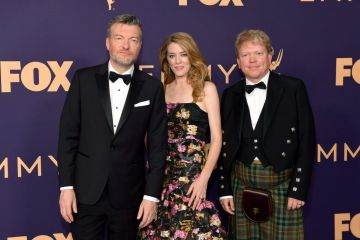 (L-R) Charlie Brooker, Annabel Jones, and Russell McLean attend the 71st Emmy Awards at Microsoft Theater on September 22, 2019 in Los Angeles, California. (Photo by Matt Winkelmeyer/Getty Images)