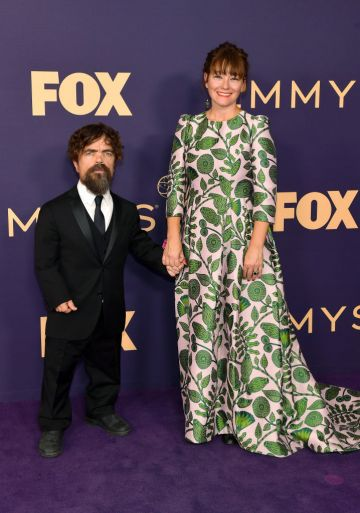 Peter Dinklage (L) and Erica Schmidt attend the 71st Emmy Awards at Microsoft Theater on September 22, 2019 in Los Angeles, California. (Photo by Matt Winkelmeyer/Getty Images)