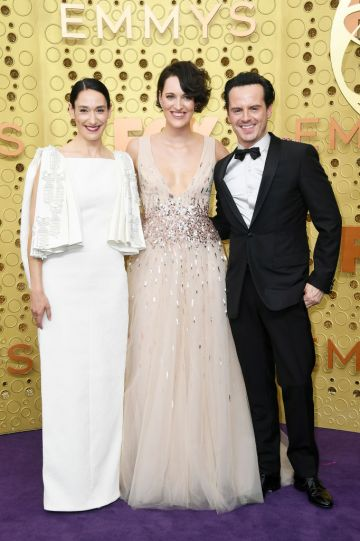 (L-R) Sian Clifford, Phoebe Waller-Bridge, and Andrew Scott attend the 71st Emmy Awards at Microsoft Theater on September 22, 2019 in Los Angeles, California. (Photo by Frazer Harrison/Getty Images)