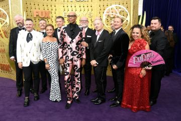 LOS ANGELES, CALIFORNIA - SEPTEMBER 22: Cast and crew of 'RuPaul's Drag Race' attend the 71st Emmy Awards at Microsoft Theater on September 22, 2019 in Los Angeles, California. (Photo by Frazer Harrison/Getty Images)