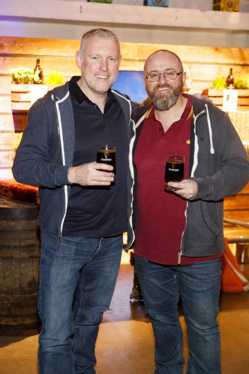 STOUT OF THIS WORLD Martin Oats and Steve Bentell pictured on International Stout Day as Guinness celebrated innovation in brewing with a future of stout summit.    Guinness together with guest brewers and a host of experts from around the world, celebrated bravery in brewing by hosting a Future of Stout Summit, focused on stout innovation and the opportunities in brewing this unique style of beer.   At the summit, Guinness announced that its brewers are set to work on a feasibility study, which will investigate the viability of brewing a Guinness fit to be enjoyed in space. Through further research, innovation and experimentation, Guinness will draw on over 259 years of experience in the hope of making a breakthrough.     Hosted in the Open Gate Brewery, the home of beer innovation and experimentation at Guinness, the stout summit was attended by a team of brewers from the St. James's Gate Brewery in Dublin and other brewers from around the world including the UK, the Netherlands, Korea as well as brewers from all over Ireland. Inspiration at the summit was also delivered by Dr. Norah Patten, who is set to be the first Irish person to travel into space, Kitchen's Theory's Chef, Jozef Youssef and Oxford University Gastrophysics Professor, Charles Spence, who together are on a continuous odyssey to research and demystify the field of gastronomy, and Erin Peters, the beer writer behind International Stout Day. Picture Andres Poveda More information can be found at www.guinness.com   Enjoy Guinness Sensibly. Visit www.drinkaware.ie.