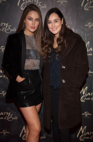 Roz & Rachel Purcell pictured at an exclusive first look of Mary, Queen of Scots at The Stella Theatre, Ranelagh before it hits cinemas nationwide on January 18th.   Photo: Anthony Woods