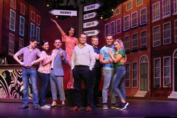 Writer of the Copper Face Jacks The Musical, Paul Howard, joined  the cast on stage at the Olympia Theatre ahead of their star studded opening night on Thursday 11 July. Photo: Leon Farrell/Photocall Ireland.