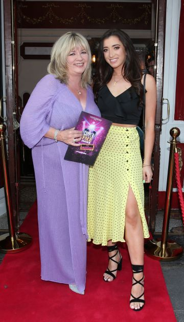 Valerie O Leary and Lauren Butler at the opening night of  Copper Face Jacks The Musical at  the Olympia Theatre which  runs until the 10th August.Photo: Leon Farrell/Photocall Ireland.