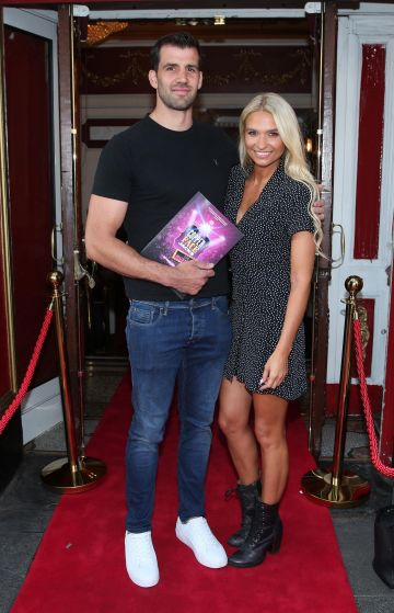 Alex Dunlop and Sars Kavanagh at the opening night of  Copper Face Jacks The Musical at  the Olympia Theatre which  runs until the 10th August.Photo: Leon Farrell/Photocall Ireland.