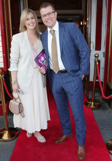 Paul Howard and his wife Mary McCarthy at the opening night of  Copper Face Jacks The Musical at  the Olympia Theatre which  runs until the 10th August.Photo: Leon Farrell/Photocall Ireland.