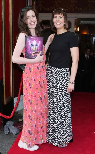 Teachers Maria Victory and Laura McEntee at the opening night of  Copper Face Jacks The Musical at  the Olympia Theatre which  runs until the 10th August.Photo: Leon Farrell/Photocall Ireland.