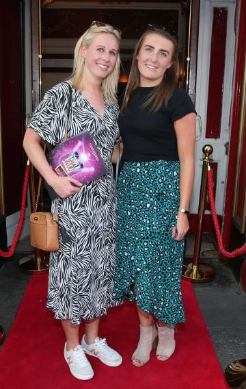 Fiona Claffy and Siobhan Ross  at the opening night of  Copper Face Jacks The Musical at  the Olympia Theatre which  runs until the 10th August.Photo: Leon Farrell/Photocall Ireland.