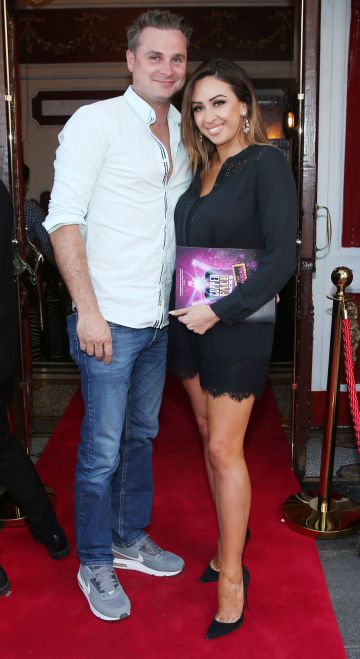 Mark Stone and Michelle Stone at the opening night of  Copper Face Jacks The Musical at  the Olympia Theatre which  runs until the 10th August.Photo: Leon Farrell/Photocall Ireland.