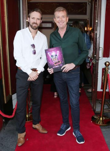 Ian Gamble and Alan Hughes  at the opening night of  Copper Face Jacks The Musical at  the Olympia Theatre which  runs until the 10th August.Photo: Leon Farrell/Photocall Ireland.