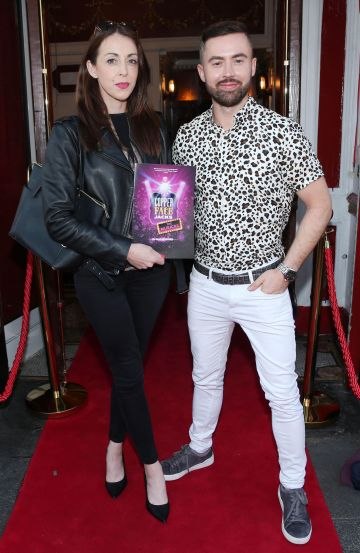 Patricia Garry and Deiric Hartigan at the opening night of  Copper Face Jacks The Musical at  the Olympia Theatre which  runs until the 10th August.Photo: Leon Farrell/Photocall Ireland.
