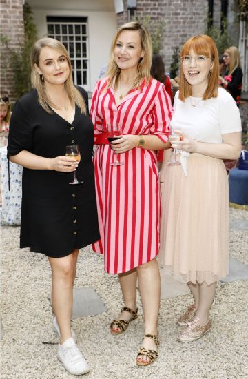 Aimee Moriarty, Laura Cunningham and Aoife Valentine at the Centra 'Wines We Love' event in Dublin.  Photo: Kieran Harnett