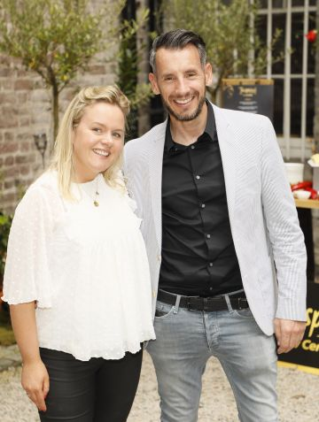 Ellen O'Donovan and Robbie Coyle at the Centra 'Wines We Love' event in Dublin. Photo: Kieran Harnett