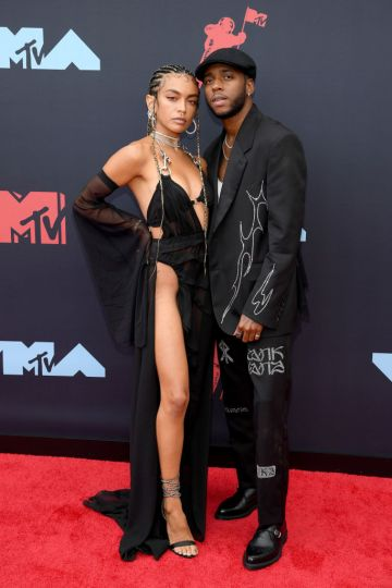 Bianca Leonor Quiñones and 6lack attend the 2019 MTV Video Music Awards at Prudential Center on August 26, 2019 in Newark, New Jersey. (Photo by Dimitrios Kambouris/Getty Images)