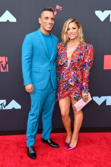 Sebastian Maniscalco and Lana Gomez attend the 2019 MTV Video Music Awards at Prudential Center on August 26, 2019 in Newark, New Jersey. (Photo by Jamie McCarthy/Getty Images for MTV)