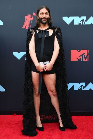 US hairdresser and television personality Jonathan Van Ness arrives for the 2019 MTV Video Music Awards at the Prudential Center in Newark, New Jersey on August 26, 2019. (Photo by Johannes EISELE / AFP)        (Photo credit should read JOHANNES EISELE/AFP/Getty Images)