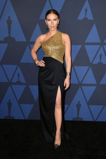 Scarlett Johansson attends the Academy Of Motion Picture Arts And Sciences' 11th Annual Governors Awards at The Ray Dolby Ballroom at Hollywood & Highland Center in Hollywood, California. (Photo by Kevin Winter/Getty Images)