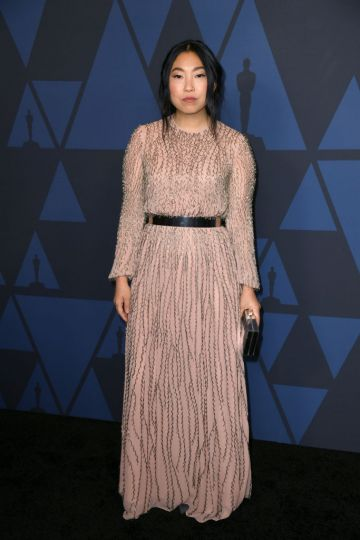 Awkwafina attends the Academy Of Motion Picture Arts And Sciences' 11th Annual Governors Awards at The Ray Dolby Ballroom at Hollywood & Highland Center in Hollywood, California. (Photo by Kevin Winter/Getty Images)