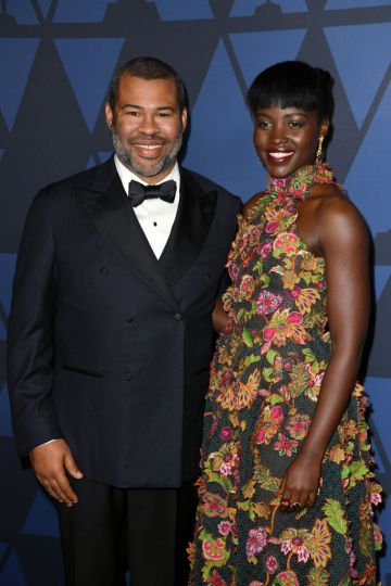 (L-R) Jordan Peele and Lupita Nyong'o attend the Academy Of Motion Picture Arts And Sciences' 11th Annual Governors Awards at The Ray Dolby Ballroom at Hollywood & Highland Center in Hollywood, California. (Photo by Kevin Winter/Getty Images)