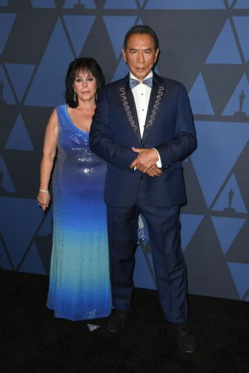 Maura Dhu Studi and Wes Studi attend the Academy Of Motion Picture Arts And Sciences' 11th Annual Governors Awards at The Ray Dolby Ballroom at Hollywood & Highland Center on October 27, 2019 in Hollywood, California. (Photo by Kevin Winter/Getty Images)