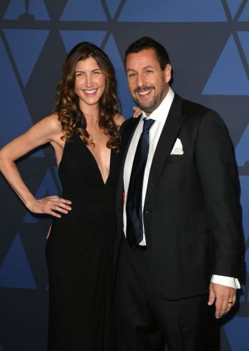 Jackie Sandler and Adam Sandler attend the Academy Of Motion Picture Arts And Sciences' 11th Annual Governors Awards at The Ray Dolby Ballroom at Hollywood & Highland Center in Hollywood, California. (Photo by Kevin Winter/Getty Images)