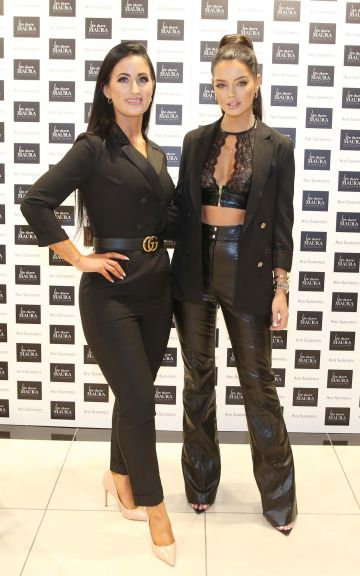 Ann Summers delighted Blanchardstown shoppers this weekend with a guest appearance by Maura Higgins who is the face of their latest 'Be More Maura' lingerie campaign. Maura is pictured here with influencer Jacqueline Crotty. Photograph: Leon Farrell / Photocall Ireland